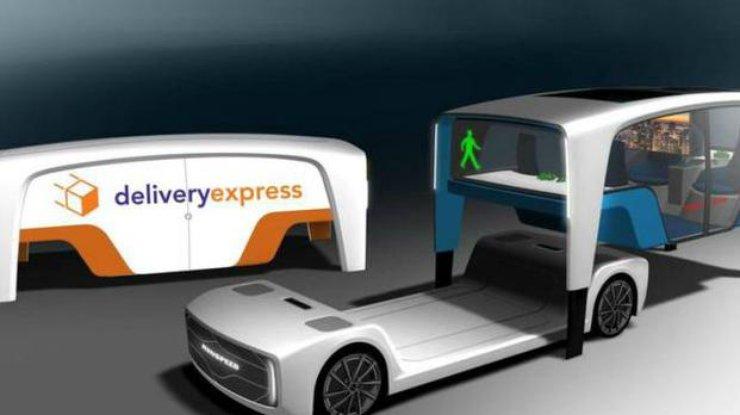 Rinspeed привезёт наSEMA Show концепт-кар электрического беспилотника сосменными кузовами