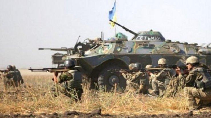 Засутки наДонбассе пострадал один украинский военный— штаб АТО