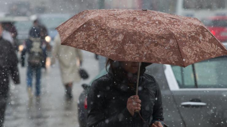 На государство Украину надвигаются метели исильный снег
