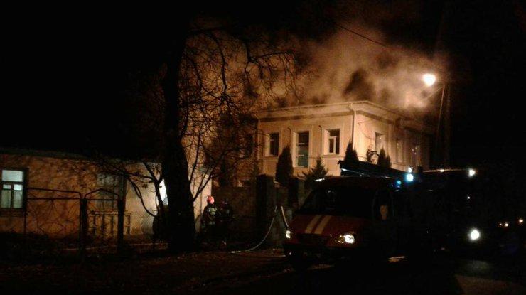 ВБахмутском районе в итоге  попадания взрывоопасного предмета произошел пожар