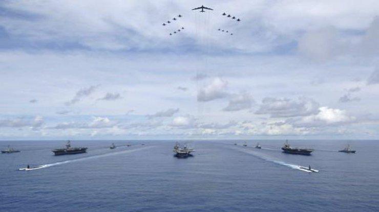 Ввоенных учениях вЮжной Корее приняли участие три авианосца США