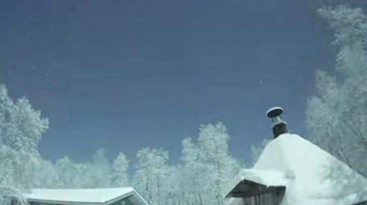 Метеор, упавший под Мурманском, граждане приняли законец света