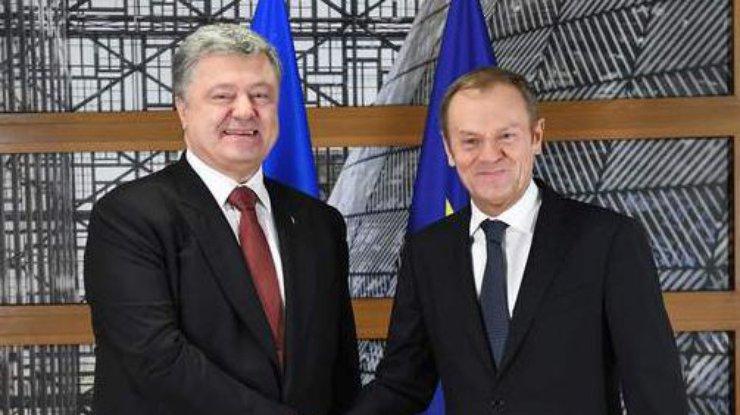 Президент Украины впервый раз встретился скоролем Бельгии