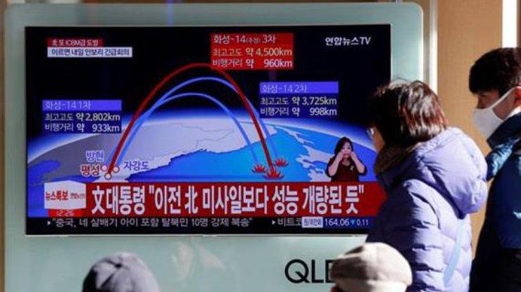 Трамп иАбэ обсудили запуск ракеты КНДР