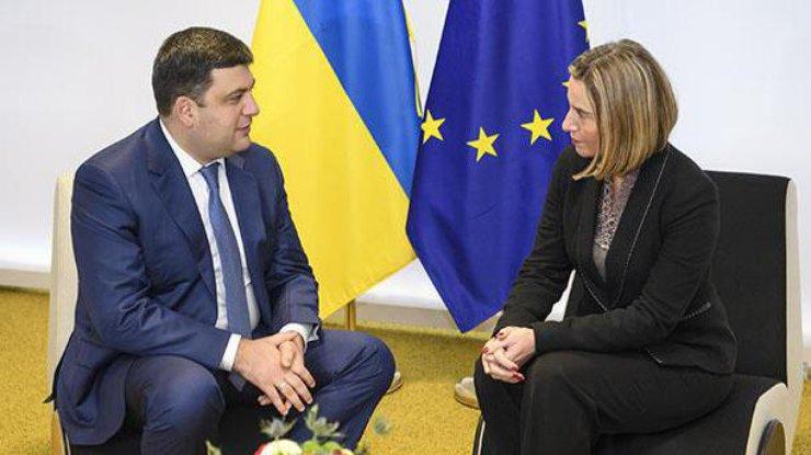 ЕСбудет сотрудничать сукраинским руководством вборьбе скоррупцией— Могерини