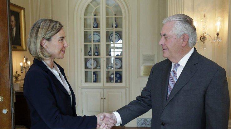 Могерини: ВВашингтоне выделили необходимость полного выполнения Минских договоренностей