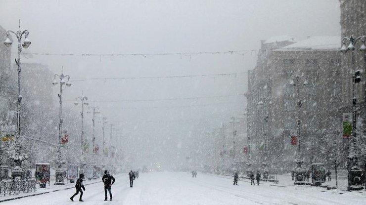 ВКиеве предполагается сильный снегопад