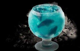 """""""Акула в бокале"""" - в Нью-Йорке предлагает коктейль, наполненный жевательными акулами"""