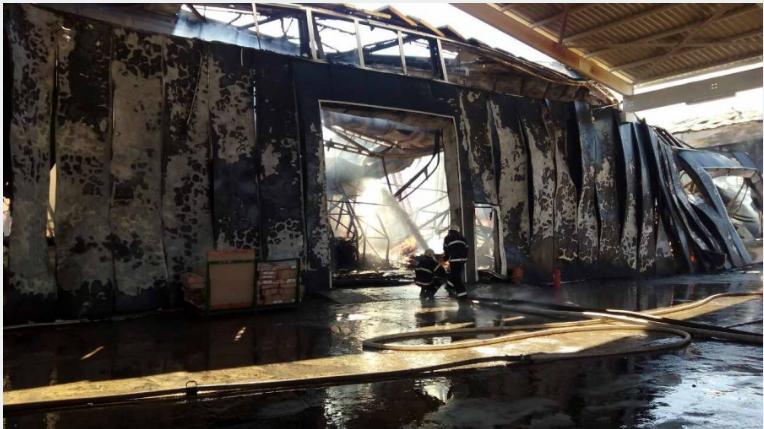 ВИвано-Франковской области наскладе мебельной фабрики произошел интенсивный пожар