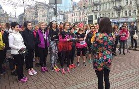 """8 марта в центре Киева состоялся забег """"Девушки бегут"""". Фото: Оксана Лой"""