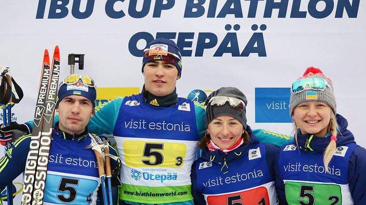 Биатлон. Кубок IBU: Украина выиграла у Российской Федерации бронзу вэстафете