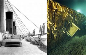 """""""Титаник"""" до и после крушения"""