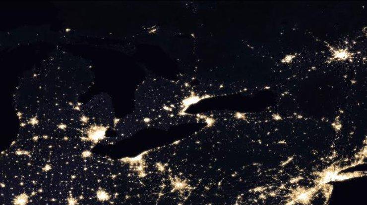 Мировая карта ночной Земли