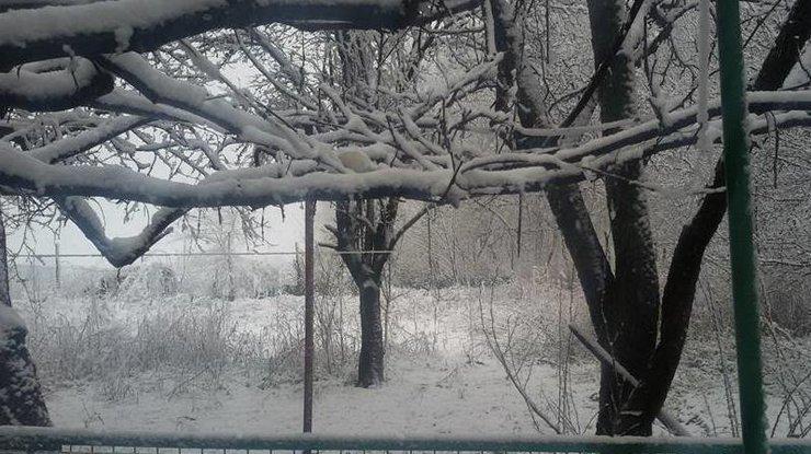 ВДнепре замело дороги иаэропорт— Апрельский снегопад
