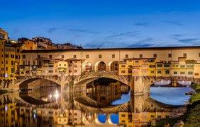 Мост Понте-Веккьо, Флоренция, Италия.