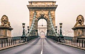 Цепной мост, Будапешт, Венгрия.