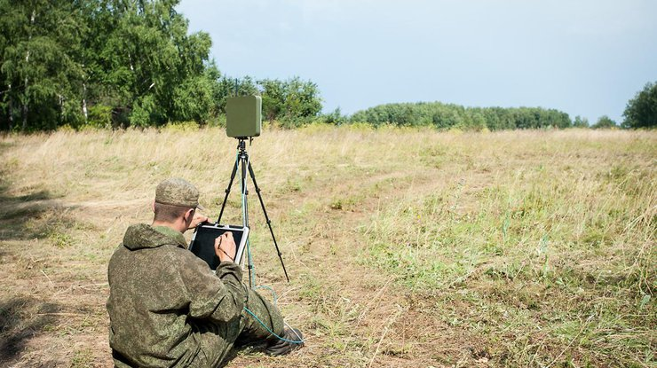 Взоне АТО отыскали русский беспилотник