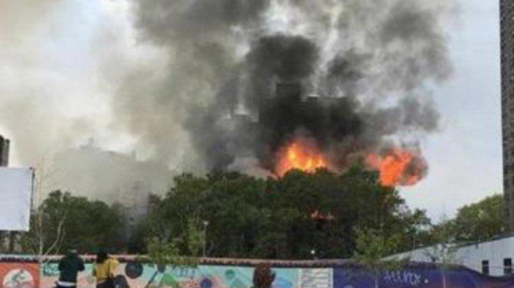 Пожар вцентре Нью-Йорка: загорелась старейшая синагога города