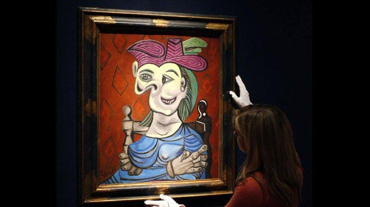 Картину Пикассо продали наторгах аукциона «Кристис» за45 млн долларов