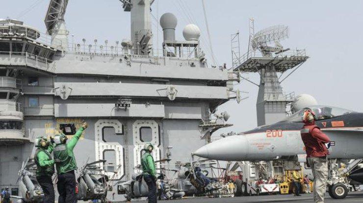 СМИ узнали овозвращении авианосца «Карл Винсон» извод Южной Кореи