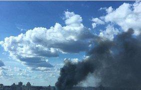 Крупный пожар на Крещатике