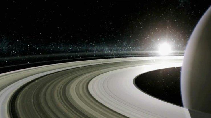 'Кассини' передал уникальные ФОТО заката на Сатурне