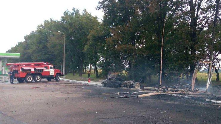 После ДТП ивзрыва газового модуля наАЗС под Киевом умер человек