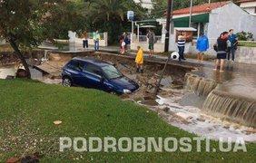 Фото последствий проливного дождя