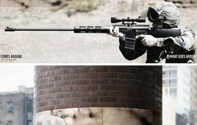 """Фото: Кампания против войны в Ираке. """"Что посеешь, то пожнешь"""". Агентство Big Ant International, Нью-Йорк"""