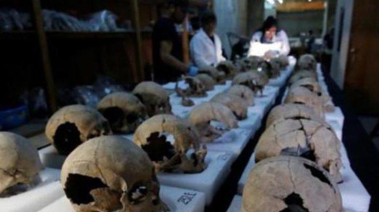 ВМехико отыскали вышку из650 черепов