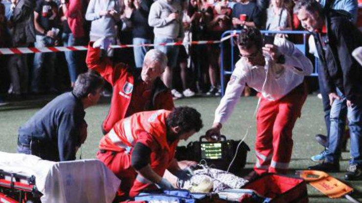 Акробат умер вовремя выступления вМадриде