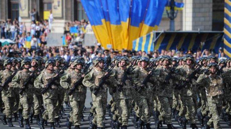 ВКиеве состоялась первая репетиция военного парада коДню Назависимости