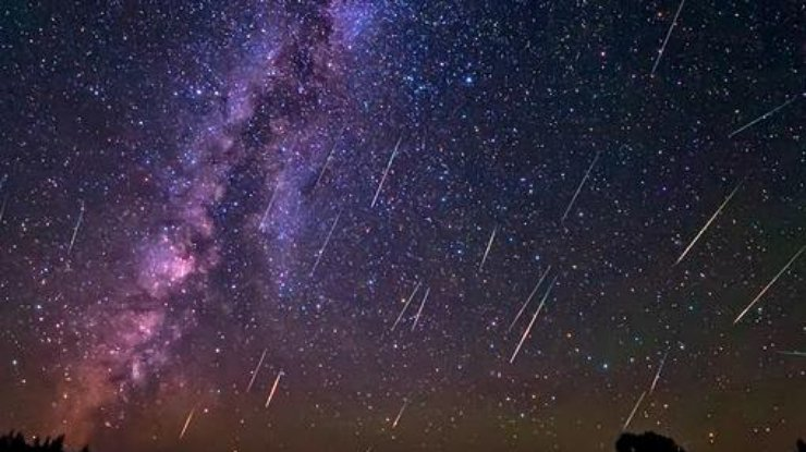 метеоритный дождь. картинки