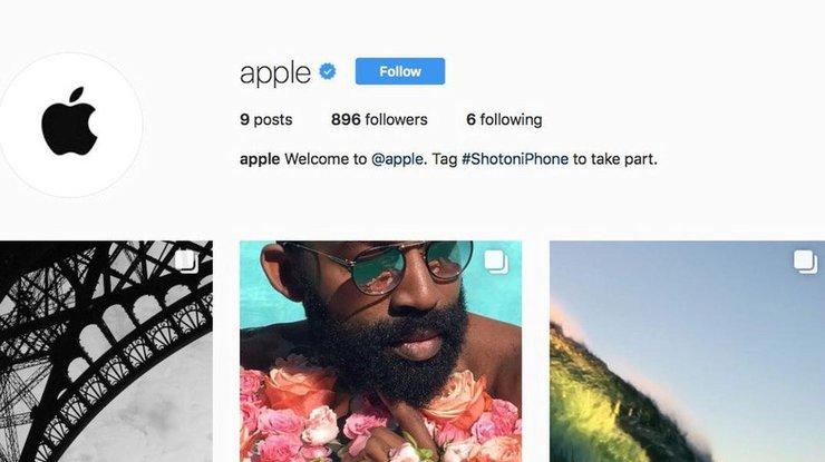 Apple завела социальная сеть Instagram профиль для фотографий фанатов