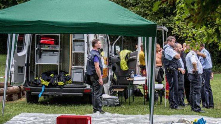 Наюго-западе Германии возеро упал самолет