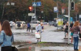 В Виннице выпал дождь с градом