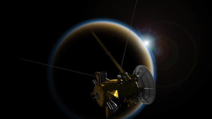 Зонд «Кассини» завершил свою миссию поизучению Сатурна: последнее фото
