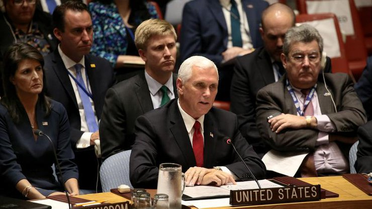 Российская Федерация продолжает подрывать суверенитет соседей,— вице-президент США