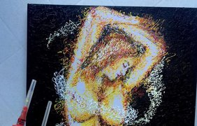 Медсестра-художник рисует картины шприцами (фото)