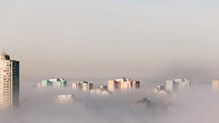 Туман в Киеве / Фото: из открытых источников