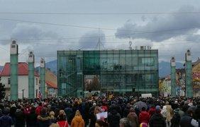 Митинг в Словакии