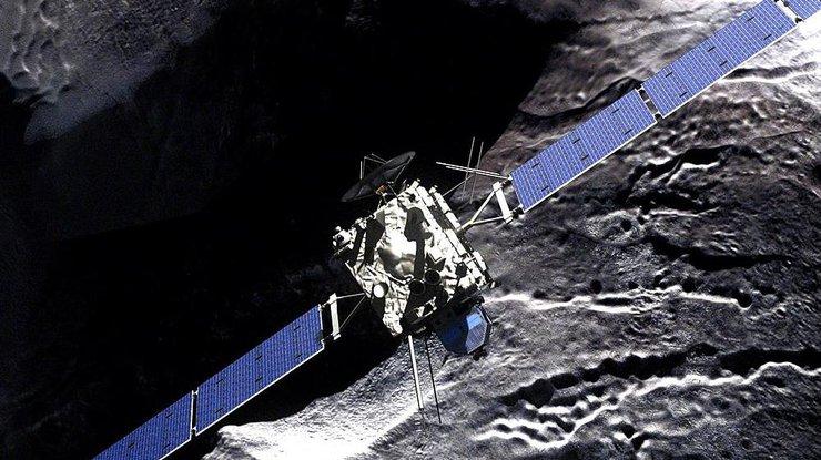 Завораживает: Rosetta показала «снегопад» наповерхности кометы