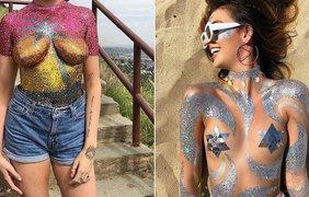 Модницы вместо купальников выбирают одну лишь их видимость. Фото: fakty.ua