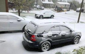 Канаду неожиданно засыпало снегом