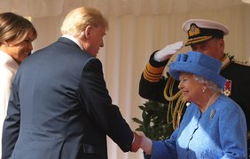 Встреча Дональда Трампа с Елизаветой II
