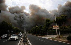 Греция в огне