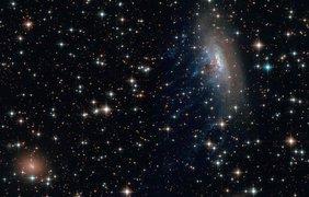Спиральная галактика с перемычкой ESO 137-001 Фото: ESA