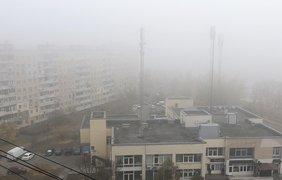 Фото: туман в Киеве / Подробности