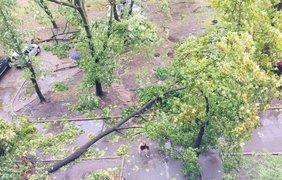 По Киеву пронесся мощный ураган
