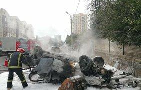 ДТП с пожаром в Киеве